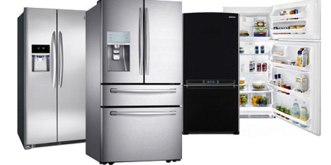 Несколько холодильников.